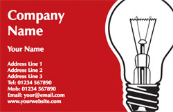 red light bulb business cards