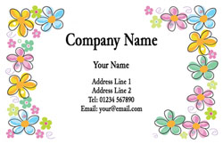 spring flowers business cards