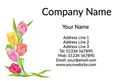 tulips business cards