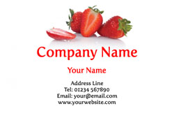 strawberries business cards