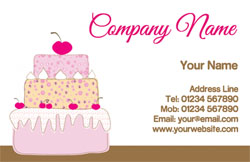 cherry cake business cards