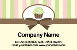 lime cupcake business cards
