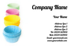 cupcake cases business cards