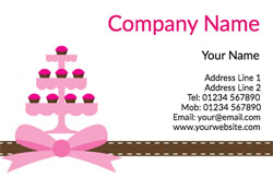 tiered cupcakes business cards