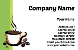 coffee and beans business cards