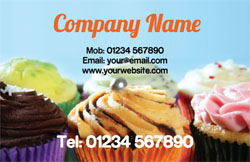 decorated cupcakes business cards