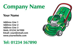 lawnmower sketch business cards