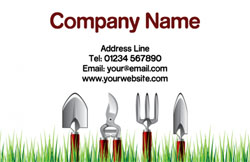 gardening tools business cards