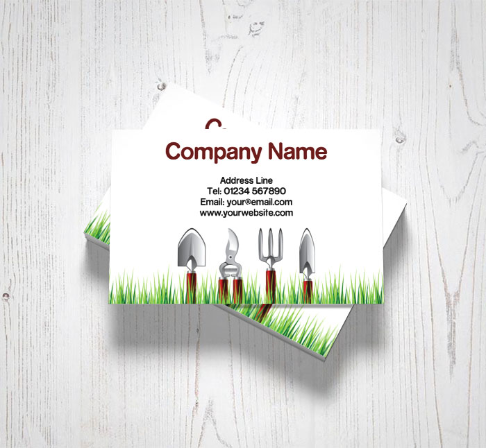 Gardening tools business cards customise online plus free delivery gardening tools business cards reheart Gallery