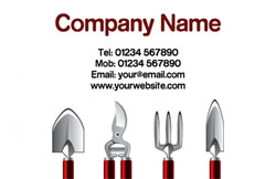 garden tool set business cards