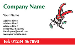 garden secateurs business cards
