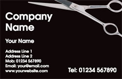 hairdressing scissors business cards