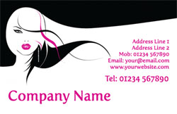 long hair business cards