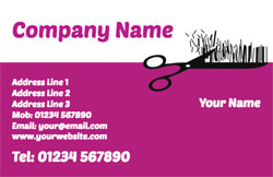 hair cut business cards