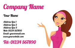 pampered lady business cards