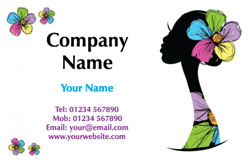 head silhouette business cards