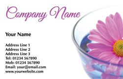 beauty flower business cards