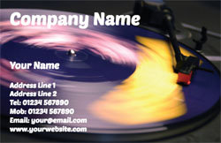 nightclub DJ business cards