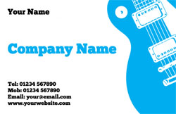 rock guitar business cards