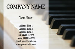 pianist business cards