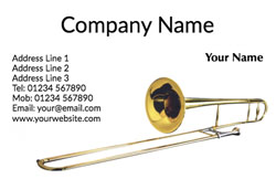 trombone business cards