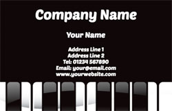 music teacher business cards