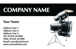 drum kit business cards