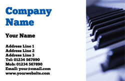 piano tutor business cards