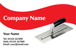red plastering business cards