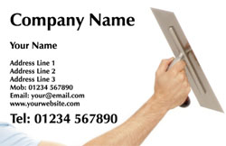 plastering arm business cards