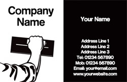 black and white plastering cards