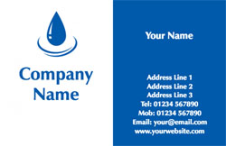 blue plumbing business cards