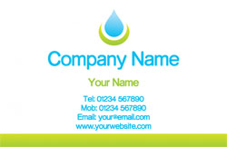 water droplet business cards