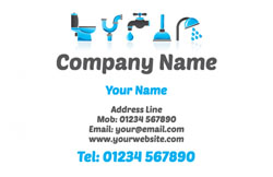 bathroom fitters business cards