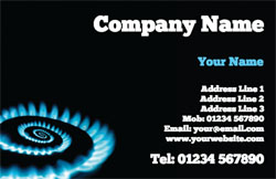 gas fitter business cards