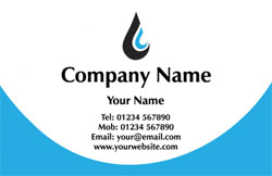 plumbing logo business cards