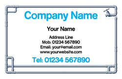 water pipe border business cards