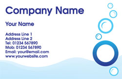bubbles plumbing business cards