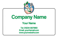 friendly plumber business cards