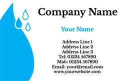 big blue droplet business cards