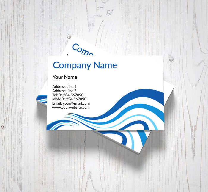 Blue wave business cards customise online plus free delivery blue wave business cards reheart Image collections