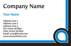 blue and black business cards