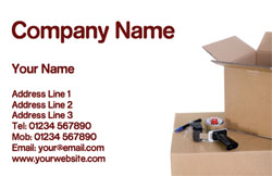 packing service business cards
