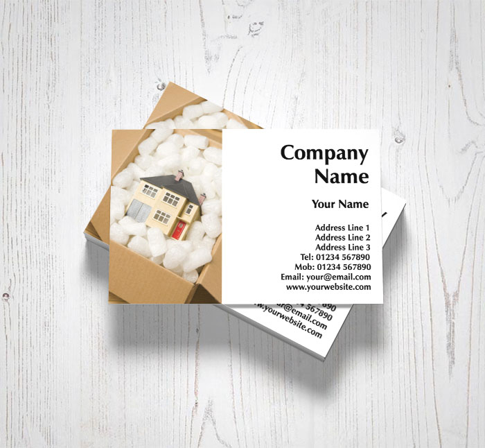 Home removal business cards customise online plus free delivery home removal business cards reheart Images