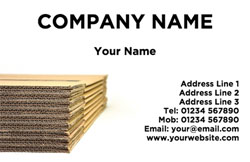 corrugated boxes business cards