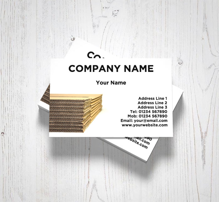 Corrugated boxes business cards customise online plus free corrugated boxes business cards colourmoves