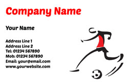football coach business cards