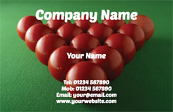 snooker business cards