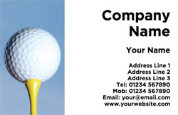 golf ball and tee business cards