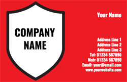 shield business cards